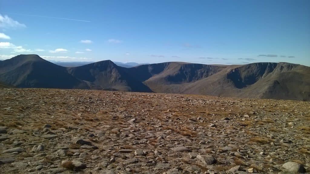 Cairn Toul,Sgor Lochan Uaine,Braeriach from Ben Macdui Cairngorms