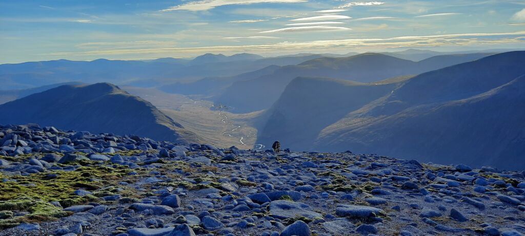 Carn a Mhaim and Devils Point from slopes of Ben Macdui
